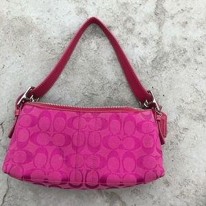 Hot pink coach handle bag